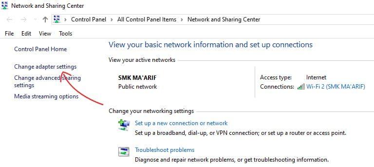 cara mengubah ip address komputer
