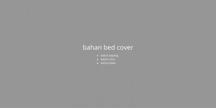bahan bed cover