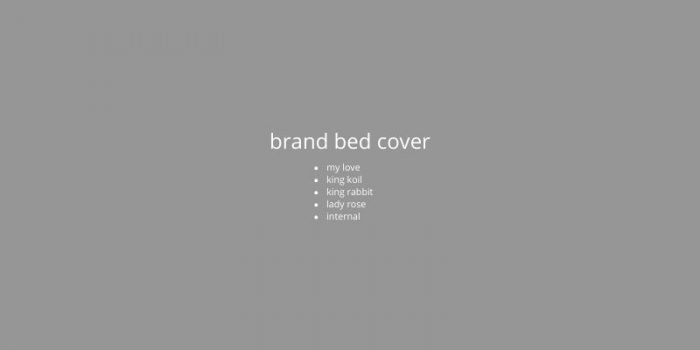 brand bed cover