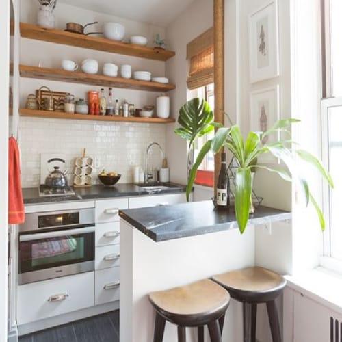desain-dapur-minimalis-type-36 dengan ruang makan